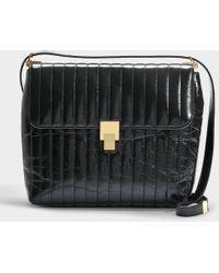 Victoria Beckham - Quinton Shoulder Bag In Black Calfskin - Lyst