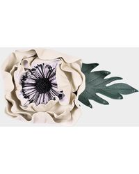 Sonia Rykiel - Anemone Brooch In White Leather - Lyst