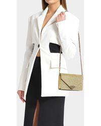 MICHAEL Michael Kors - Barbara Medium Envelope Clutch Bag In Pale Gold Pvc - Lyst