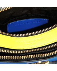 Marc Jacobs - Snapshot Crossbody Bag In Multicolor Blue Polyurethane Coated Calfskin - Lyst