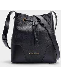 MICHAEL Michael Kors - Cary Small Bucket Bag In Black Calfskin - Lyst 0c244d688e