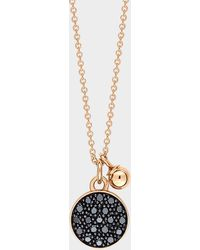 Ginette NY - Black Diamond Mini Ever Disc On Chain - Lyst