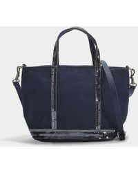 Vanessa Bruno - Canvas And Sequins Baby Tote In Blue Cotton - Lyst