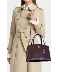 COACH - Charlie 28 Carryall Bag In Burgundy Calfskin - Lyst