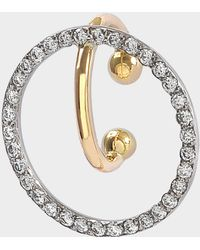 Charlotte Chesnais - Celeste Mono Earring In 18k Yellow And White Gold And Diamonds - Lyst
