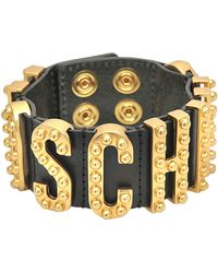 Moschino - Lettering Studded Bracelet - Lyst