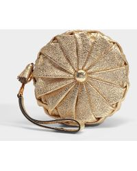 Anya Hindmarch - Pillow Clutch In Light Gold Quilted Calf Leather - Lyst