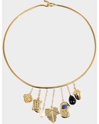 Aurelie Bidermann - Barbizon Necklace With Baroque Pearls And Black Agate - Lyst