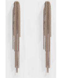 Helene Zubeldia - Palace Long Clip Earrings With Cascade Chain - Lyst