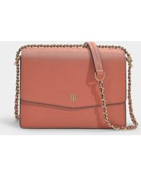 95874ee17649 Tory Burch - Robinson Convertible Shoulder Bag In Tramonto Calfskin - Lyst
