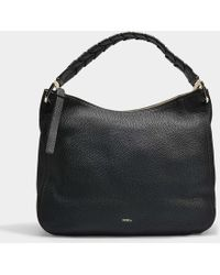 Furla - Rialto Large Hobo Bag In Black Calfskin - Lyst