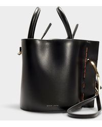 Danse Lente - Bobbi Bag In Black Calfskin - Lyst