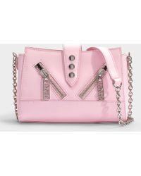 KENZO - Kalifornia Mini Shoulder Bag In Pink Calfskin - Lyst