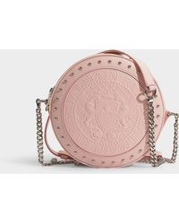 Balmain - Disco Bag In Pale Pink Calfskin - Lyst