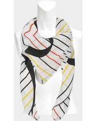 Sonia Rykiel - Giant Square Scarf In White Multi Chinese Crepe - Lyst