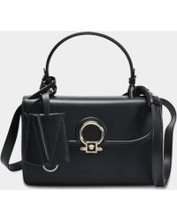 Versace - Dv One Small Bag In Black Calf - Lyst