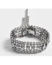Helene Zubeldia - Bracelet ouvert cascade de cristaux en ruthénium et cristaux - Lyst