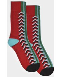 Burberry - Graphic Knit Socks In Multicolor Cotton - Lyst