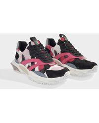 Valentino - Bounce Camo Sneakers In Camo Fuschia Calfskin - Lyst