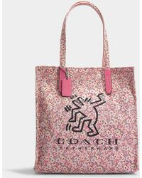 COACH - Keith Haring Tote Bag In Bright Pink Canvas - Lyst 6e9f74ea17