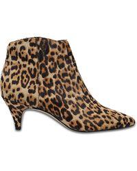 Sam Edelman - Kinzey Leopard-print Calf Hair Ankle Boots - Lyst
