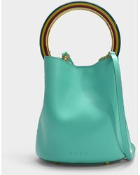 d65defda718b Givenchy Pandora Mini Mint Leather Box Bag in Green - Lyst