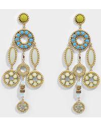 Marc Jacobs - Jeweled Statement Earrings In Blue Brass - Lyst