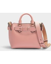 Burberry - The Baby Belt Bag In Ash Rose Calfskin - Lyst