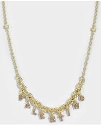 Valentino - Valentino Crystals Lettering Choker Necklace In Metal And Pink Swarovski Crystals - Lyst