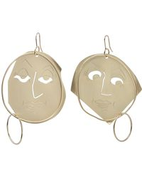 J.W.Anderson Moon Face Earrings in Sapphire Eco Brass FLYGL