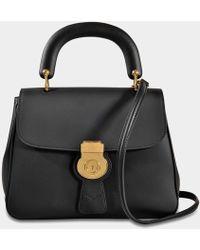 Burberry - Dk88 Bag In Black Embossed Calfskin - Lyst