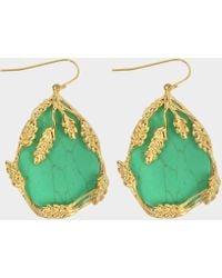 Aurelie Bidermann - Françoise Pendant Earrings With Turquoise In Turquoise Metal - Lyst