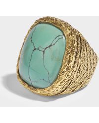 Aurélie Bidermann Miki Turquoise Ring in Turquoise 18K Gold-Plated Brass 2bNkvNwniL
