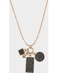 Ginette NY - Mini Black Diamond Ever Charm Necklace - Lyst