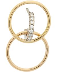 Charlotte Chesnais Galilea XS Earring in Yellow, Rose and White 18K Gold and Diamonds