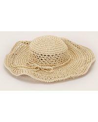 Pieces - Straw Hat - Lyst