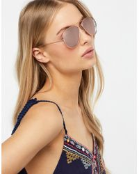 Monsoon - Alexis Aviator Sunglasses - Lyst