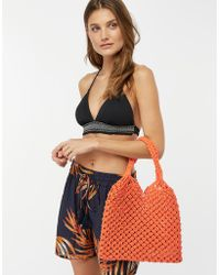 Monsoon - Marlow Macramé Shopper Bag - Lyst
