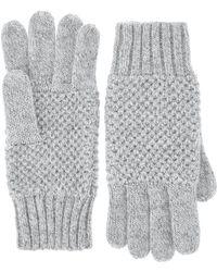 Monsoon - Nalani Knot Stitch Sparkle Gloves - Lyst
