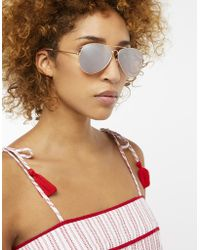 Monsoon - Alexis Aviator Sunglasses - Lyst