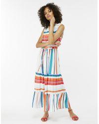 Monsoon - Rosie Stripe Drawstring Dress - Lyst