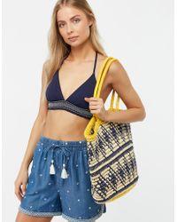 Monsoon - Darby Diamond Crochet Shopper Bag - Lyst