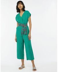 Monsoon - Jamie Linen Embroidered Jumpsuit - Lyst