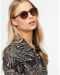 Monsoon - Remi Round Preppy Sunglasses - Lyst