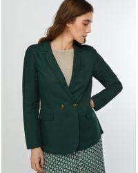e14cc46dad Monsoon - Green  sarah  Smart Linen Jacket - Lyst