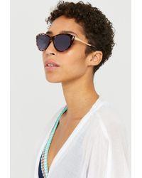 Monsoon - Marcy Metal Arm Cat Eye Sunglasses - Lyst