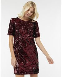 Monsoon - Stacey Sequin Shift Dress - Lyst
