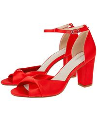 1e0f1465e Monsoon - Tallulah Twist Vamp Block Heel Sandals - Lyst