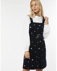 Monsoon - Mattheus Embellished Corduroy Dress - Lyst