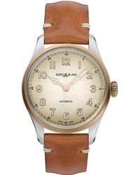 Montblanc - 1858 Automatic Watch 40 Mm Aged Cognac Stainless Steel - Lyst